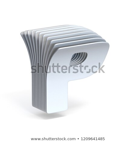 Curved paper sheets Letter P 3D Stock photo © djmilic