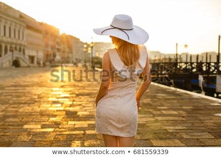travel tourist woman in venice italy stock photo © artfotodima