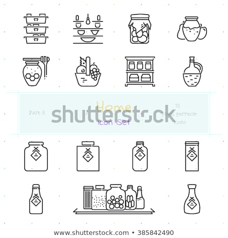 fruit and vegetables conservation vector icon stock photo © robuart