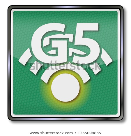 Shield with the data radio network G5 Stock photo © Ustofre9