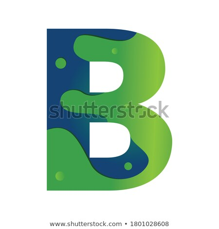 dark green blue b letter b logo icon vector Stock photo © blaskorizov