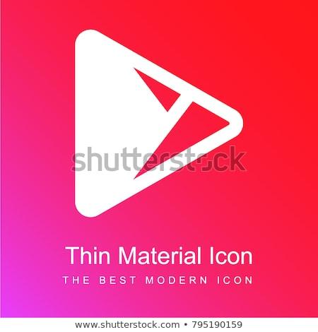 Logotípus rózsaszín ikon logo vektor terv Stock fotó © blaskorizov