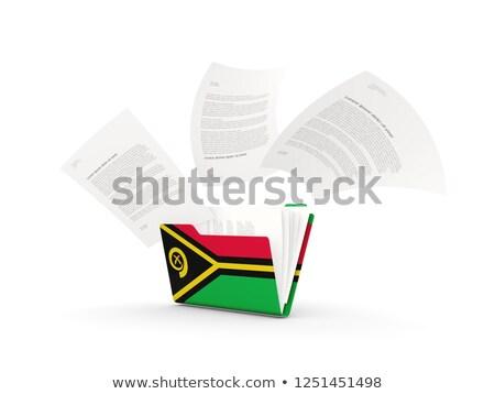 Dobrador bandeira Vanuatu arquivos isolado branco Foto stock © MikhailMishchenko