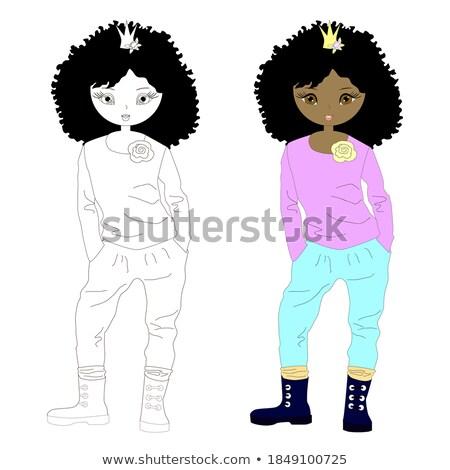 афро американский девушки вектора черный школы Сток-фото © pikepicture