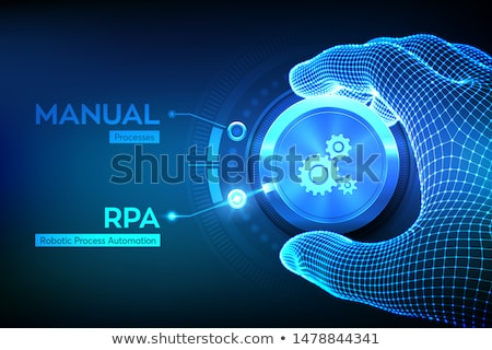 business · procede · automatisering · analist · werken · laptop - stockfoto © rastudio