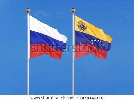 Due bandiere Russia Venezuela isolato Foto d'archivio © MikhailMishchenko