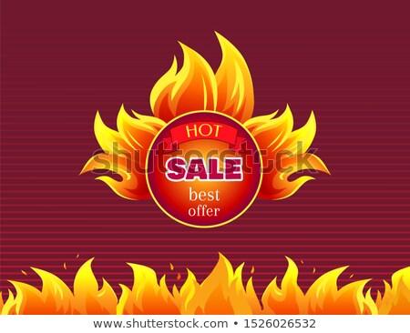 Quente venda ardente distintivo o melhor promo Foto stock © robuart