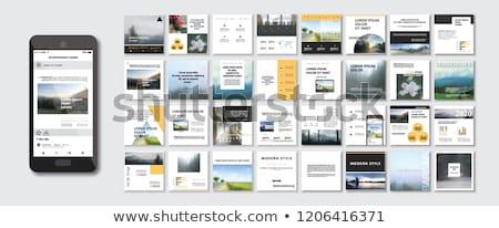набор веб рекламный плакатов поощрения Сток-фото © robuart