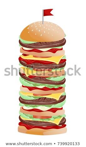 Burger örnek birkaç domates Stok fotoğraf © lenm
