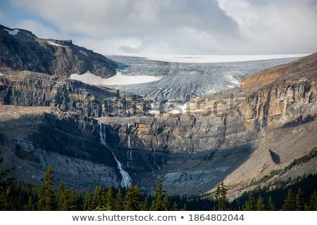 śniegu kopuła wody podpisania góry jezioro Zdjęcia stock © benkrut
