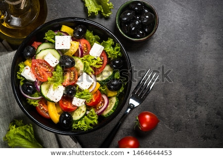 Zdjęcia stock: Black Olives And Traditional Greek Dishes