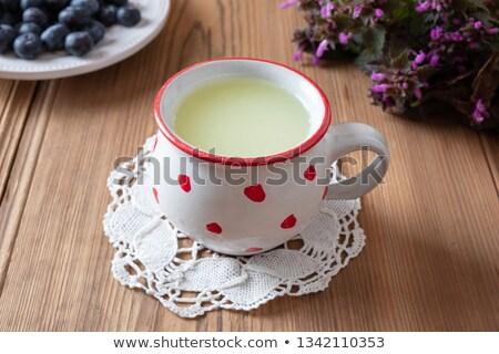 Fraîches mug bleuets fleurs pourpre printemps Photo stock © madeleine_steinbach
