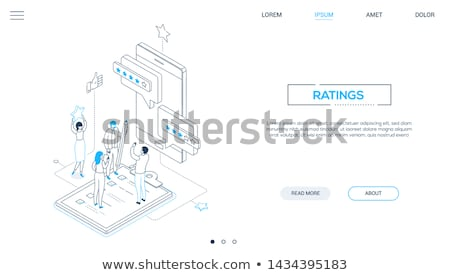 company testimonials   colorful line design style illustration stock photo © decorwithme