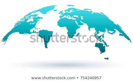 Stock fotó: World Map Isolated On White Background In Bright Blue Color Earth Globe World Map Set Vector Illu