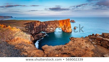 Izland gyönyörű nyár tájkép óceán déli Stock fotó © Kotenko