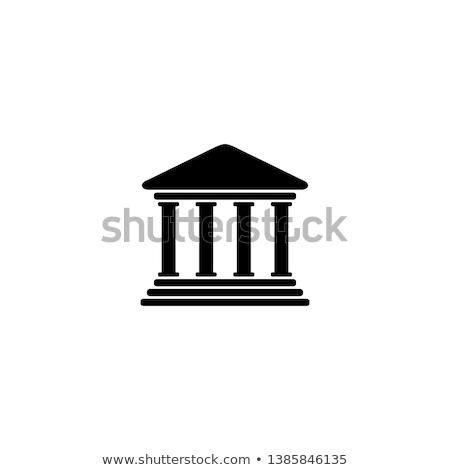Bíróság ikon szín terv üzlet épület Stock fotó © angelp
