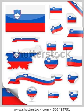 Köztársaság Szlovénia zászló száraz Föld föld Stock fotó © grafvision