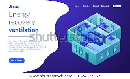 Foto stock: Ventilation System Concept Isometric 3d Landing Page