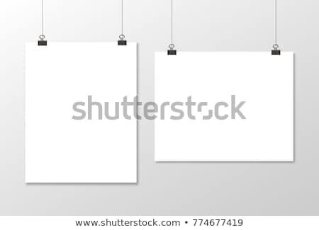 üres papír lap akasztás hirdetés szalag vázlat Stock fotó © Andrei_