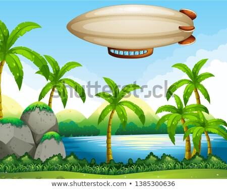 Airship flating on air Stock photo © colematt