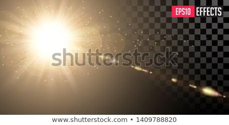 Dourado brilhante sol transparente lentes Foto stock © tashatuvango