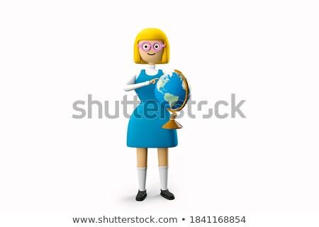 Teen Girl Geographer Explorer Stock photo © lenm