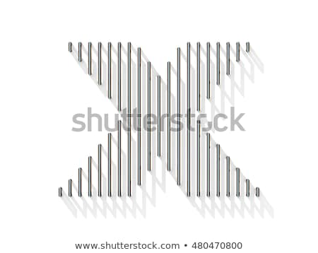 Line font with shadow Letter X 3D Stock photo © djmilic