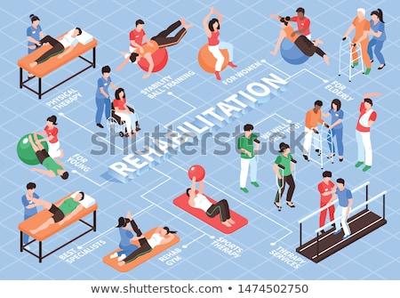 Rehabilitasyon fizyoterapi rehabilitasyon klinik egzersiz Stok fotoğraf © RAStudio