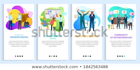 Businessman Hipster Animals Tiger and Koala Vector Stock photo © robuart