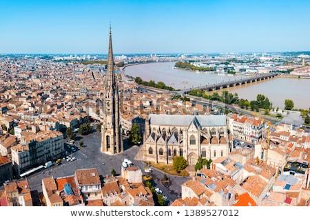 Panorama of Bordeaux and Garonne river Stock photo © tilo
