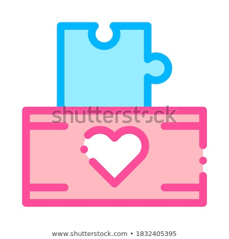 volunteers support game box vector thin line icon stock photo © pikepicture