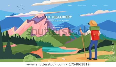 Férfi kirándulás zöld természet utazás hobbi Stock fotó © robuart