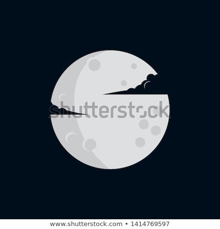Eenvoudige maan illustratie hemel landschap achtergrond Stockfoto © Blue_daemon