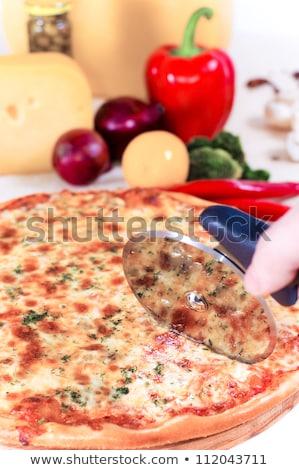 Pizza éles bors űrlap ételek étterem Stock fotó © fanfo