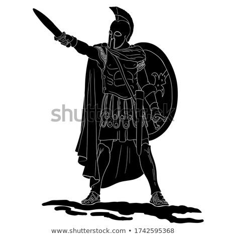 Escudo espada desenho esboço estilo ilustração Foto stock © patrimonio