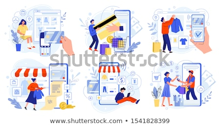People Buying from Online Store with Smartphones Stock photo © robuart
