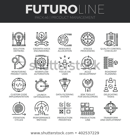 Scrum Agile Collection Elements Vector Icons Set Stock photo © pikepicture