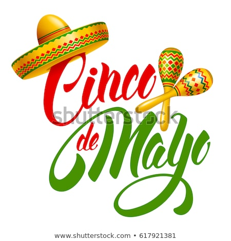 Cinco de Mayo National Holiday, Mexican Sombrero Stock photo © robuart