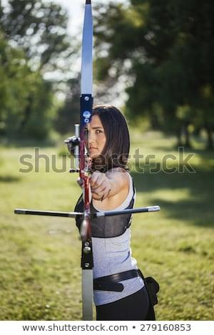フロント 表示 弓 矢印 ハンサム ストックフォト © lichtmeister