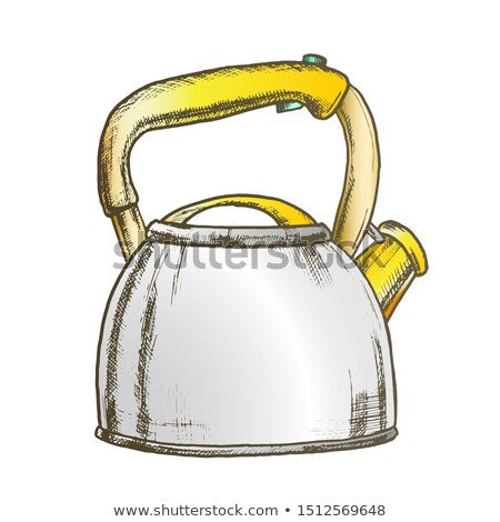 Teapot For Cook Hot Drink Kitchenware Ink Vector Stock photo © pikepicture