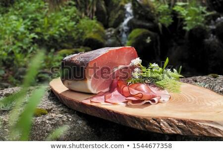 kurutulmuş · jambon · fotoğraf · atış · gıda · et - stok fotoğraf © grafvision