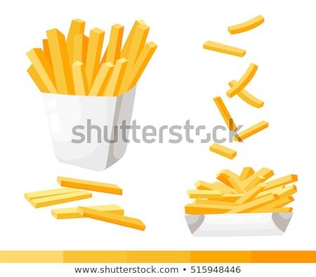 Sültkrumpli ikon vektor izolált fehér szerkeszthető Stock fotó © smoki