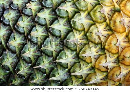 テクスチャ パイナップル 皮膚 マクロ トロピカルフルーツ することができます ストックフォト © vapi