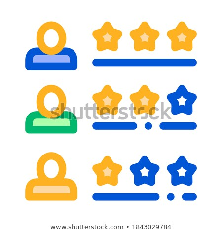 Driver Rating Sheet Online Taxi Icon Vector Illustration Stock photo © pikepicture
