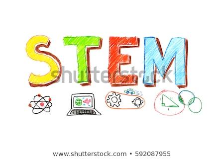 Génie enfants programmation robot classe Photo stock © RAStudio