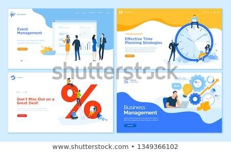 Evento gestione app interfaccia modello manager Foto d'archivio © RAStudio