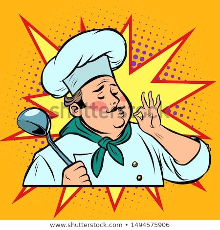 cook ok gesture, gourmet food taste Stock photo © rogistok