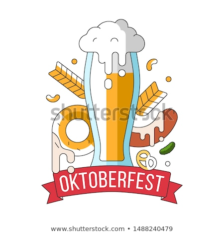 oktoberfest · basit · şerit · afiş · başlık · renkler - stok fotoğraf © barsrsind