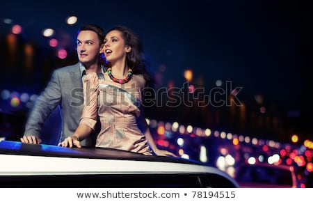 night life portrait of two friends. Stock photo © Lopolo