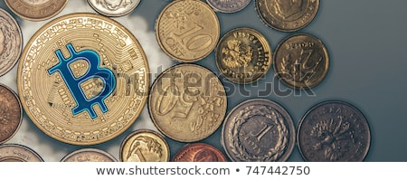 Złota bitcoin monety działalności finansowych faktyczny Zdjęcia stock © JanPietruszka